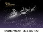 santa claus giving gifts ... | Shutterstock .eps vector #331509722