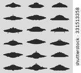Set Of Ufo Flying Saucer Shapes ...