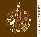 christmas and new year's...   Shutterstock .eps vector #331515926