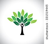 people tree icon with colorful... | Shutterstock .eps vector #331519445
