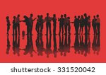 silhouettes of business people... | Shutterstock . vector #331520042