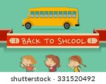 back to school theme with... | Shutterstock .eps vector #331520492