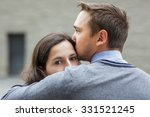 young couple mourns because of...   Shutterstock . vector #331521245