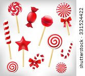 candy set with gradient mesh ... | Shutterstock .eps vector #331524422