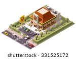 vector isometric icon or... | Shutterstock .eps vector #331525172
