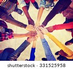 group of diverse multiethnic... | Shutterstock . vector #331525958
