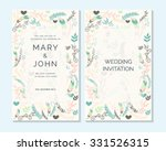 wedding invitation  thank you... | Shutterstock .eps vector #331526315