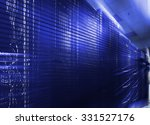 rows of server hardware with... | Shutterstock . vector #331527176