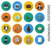 law icons. set of elements and... | Shutterstock .eps vector #331532042