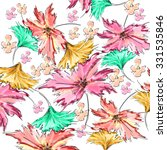 watercolor flower pattern | Shutterstock . vector #331535846