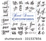 hand drawn elegant ampersands... | Shutterstock .eps vector #331537856