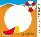 border design with summer theme ... | Shutterstock .eps vector #331548512