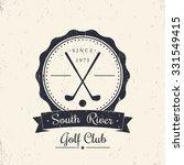Golf Club Grunge Vintage Logo ...