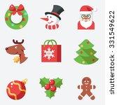 Christmas Icons  Flat Design