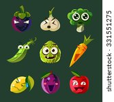 set of emotional comic fruit... | Shutterstock .eps vector #331551275