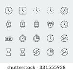 time and clock vector icon set... | Shutterstock .eps vector #331555928
