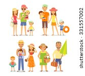 different families on vacation... | Shutterstock .eps vector #331557002