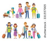 families with children and... | Shutterstock .eps vector #331557005