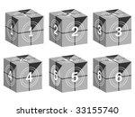 film strip on boxes | Shutterstock .eps vector #33155740