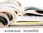 stack of magazines | Shutterstock . vector #331563902