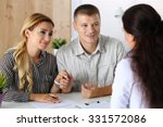 young family couple trying to... | Shutterstock . vector #331572086