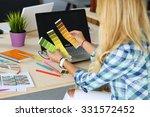 hands of female designer in... | Shutterstock . vector #331572452