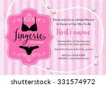 lingerie shower invitation card ...