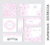 elegant cards with decorative...