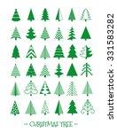Christmas Tree Icons Set....