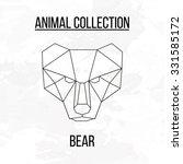geometric vector animal bear... | Shutterstock .eps vector #331585172