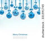 illustration christmas blue... | Shutterstock .eps vector #331591745