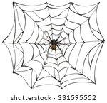 spiderweb. big spider web | Shutterstock . vector #331595552