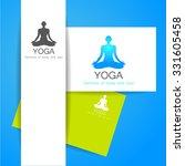 yoga concept. vector template... | Shutterstock .eps vector #331605458