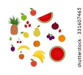 set of fruits | Shutterstock .eps vector #331607465