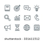 set of business line icons ... | Shutterstock .eps vector #331611512