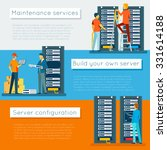 data center and hosting vector... | Shutterstock .eps vector #331614188