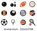 sport balls simply symbol for... | Shutterstock .eps vector #331614788