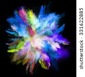launched colorful powder on... | Shutterstock . vector #331622885