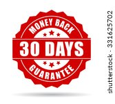 30 days money back guarantee... | Shutterstock .eps vector #331625702