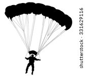 skydiver  silhouettes... | Shutterstock .eps vector #331629116