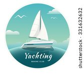 blue sea  with yachts and... | Shutterstock .eps vector #331632632