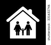 family   white vector icon | Shutterstock .eps vector #331632746