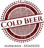 Cold Beer Grunge Stamp