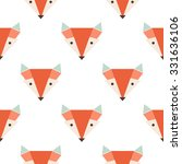 cute foxes seamless vector... | Shutterstock .eps vector #331636106
