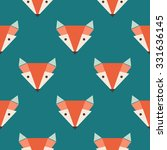 cute foxes seamless vector... | Shutterstock .eps vector #331636145