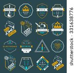set of vector badges and logos... | Shutterstock .eps vector #331638776