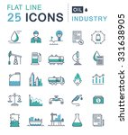 set vector line icons in flat... | Shutterstock .eps vector #331638905