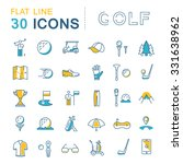 set vector line icons game golf ... | Shutterstock .eps vector #331638962