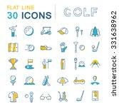 set vector line icons game golf ... | Shutterstock .eps vector #331638962