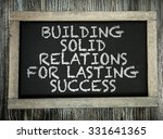 building solid relations for... | Shutterstock . vector #331641365